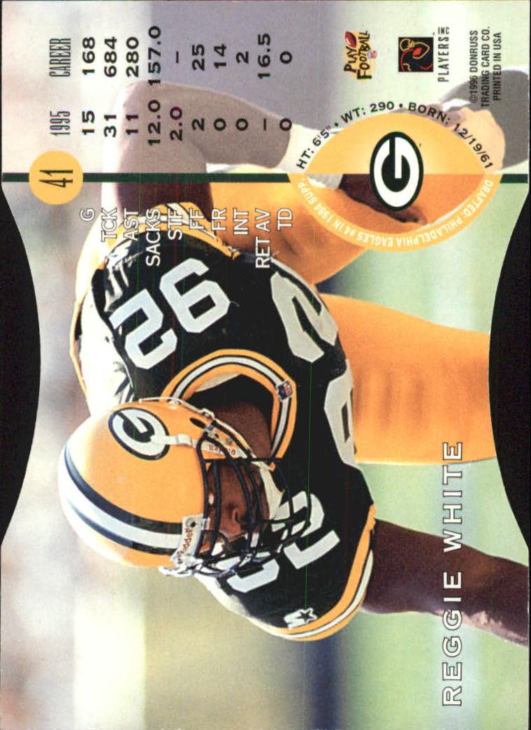1996 Leaf Press Proofs #41 Reggie White back image