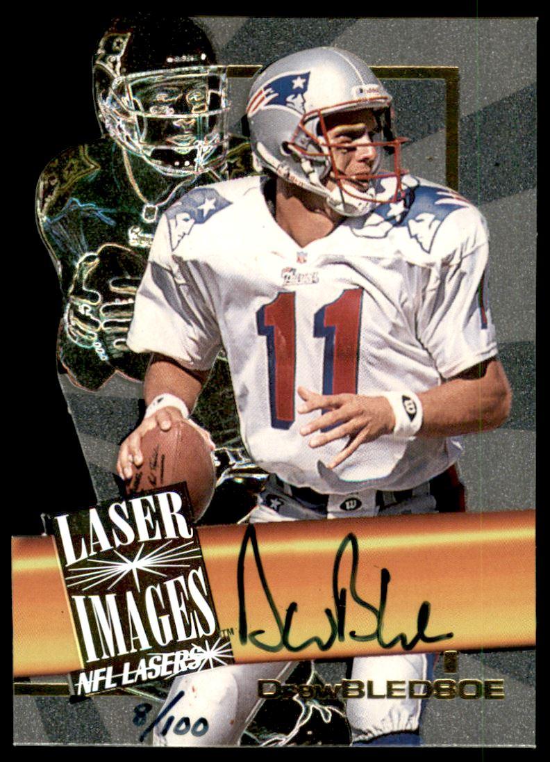 1996 Score Board Lasers Autographs Die Cuts #2 Drew Bledsoe