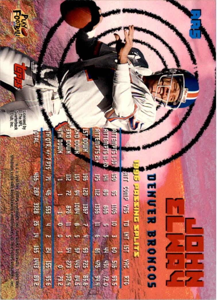 1997 Stadium Club Aerial Assault #AA5 John Elway back image