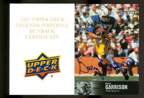 1997 Upper Deck Legends Autographs #AL106 Gary Garrison
