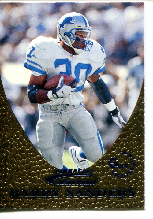 1997 Action Packed Gold Impressions #16 Barry Sanders