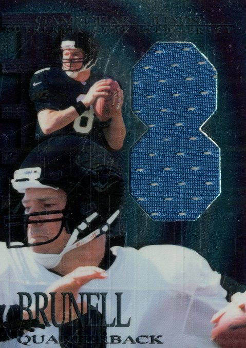 1997 Collector's Edge Extreme Game Gear Quads #5J Mark Brunell JSY