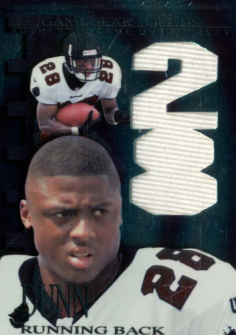 1997 Collector's Edge Extreme Game Gear Quads #9J Warrick Dunn JSY
