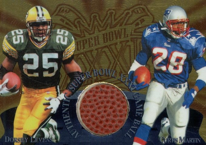 1997 Collector's Edge Masters Super Bowl Game Ball #2 D.Levens/C.Martin