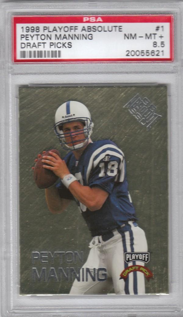 1998 Absolute Draft Picks #1 Peyton Manning