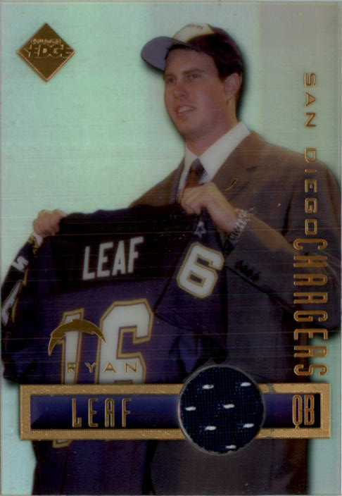 1998 Collector's Edge First Place Game Gear Jersey #2 Ryan Leaf