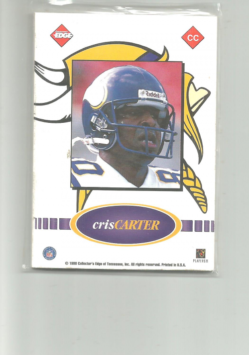 1998 Collector's Edge Odyssey Game Ball #CC Cris Carter back image