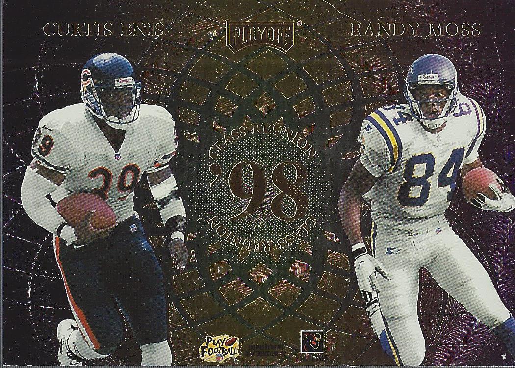 1998 Playoff Momentum Class Reunion Quads #16 Peyton Manning/Ryan Leaf/Curtis Enis/Randy Moss back image