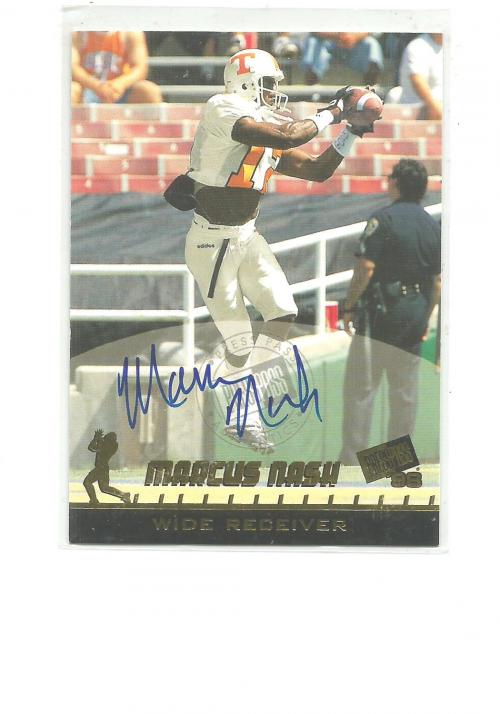 1998 Press Pass Autographs #34 Marcus Nash