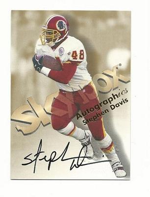1998 SkyBox Premium Autographics #16 Stephen Davis MU/S*