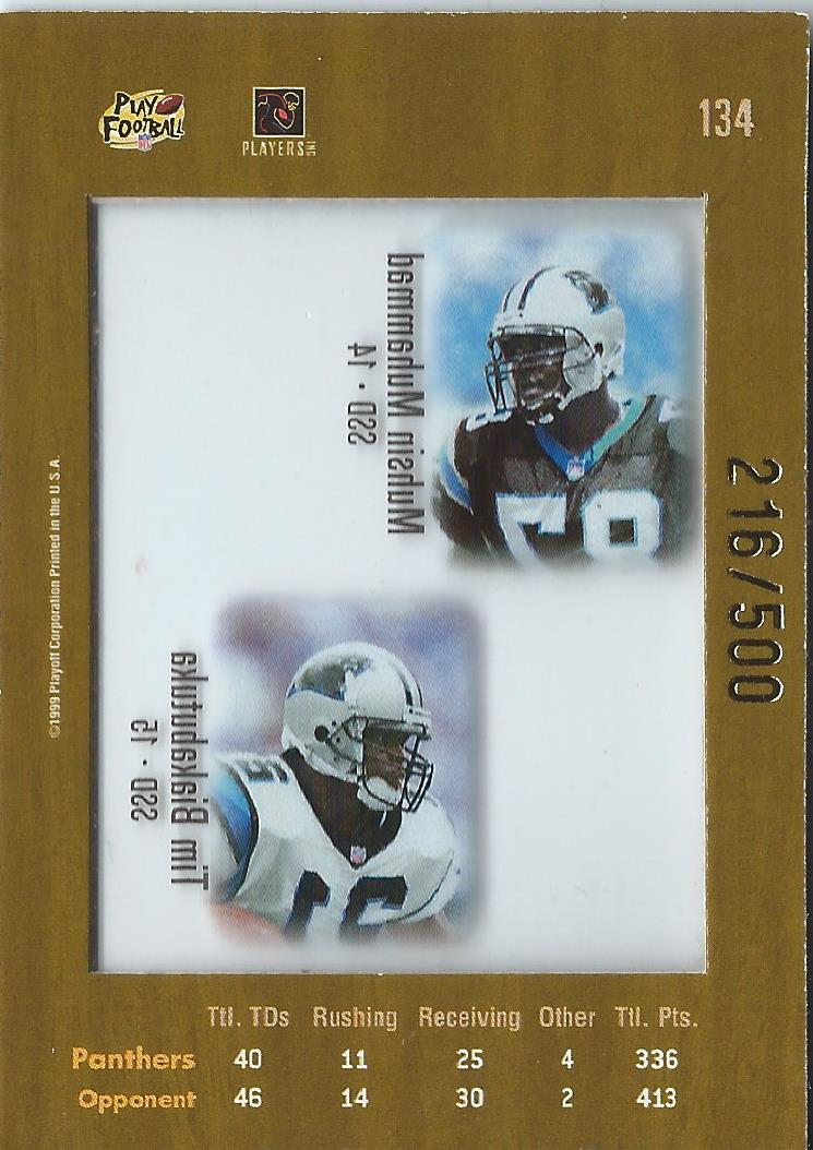 1999 Absolute SSD Coaches Collection Silver #134 Panthers CL back image