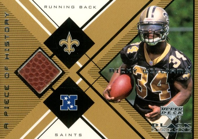 1999 Black Diamond A Piece of History #RW Ricky Williams H/R