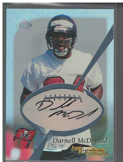 1999 Collector's Edge Odyssey Pro Signature Authentics #15 Darnell McDonald/2435