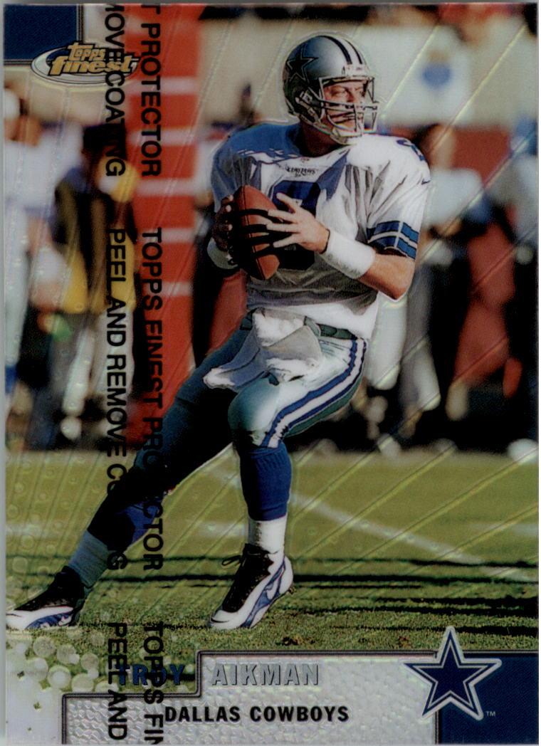 1999 Finest Refractors #20 Troy Aikman