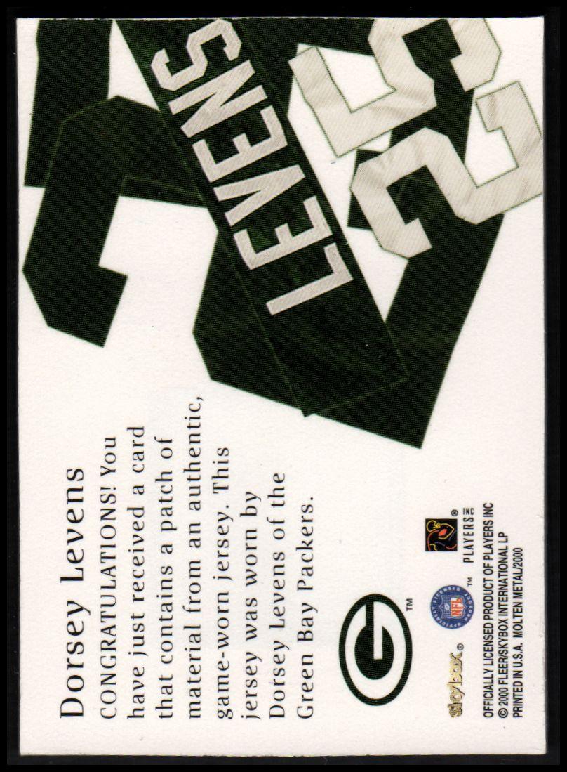 1999 SkyBox Molten Metal Patchworks #8 Dorsey Levens FS back image