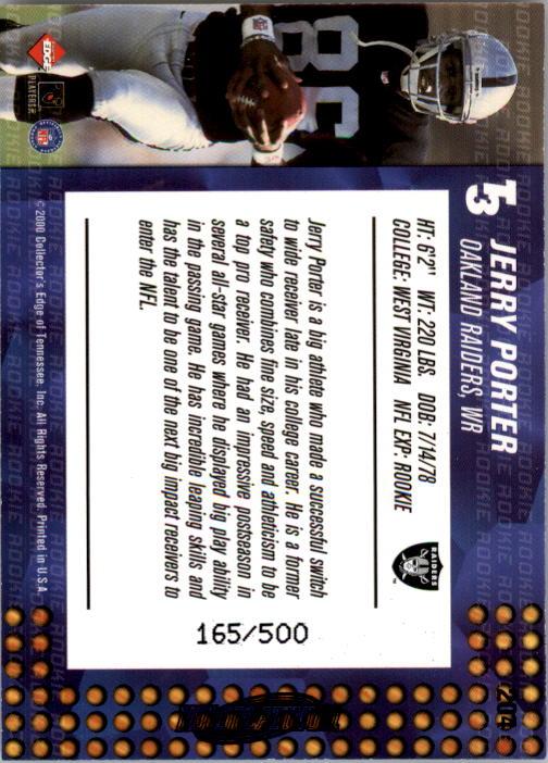 2000 Collector's Edge T3 HoloPlatinum #204 Jerry Porter back image