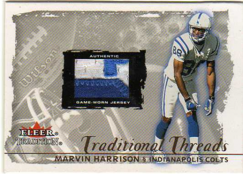 2000 Fleer Tradition Glossy Traditional Threads  17 Marvin Harrison 250 ae005f36e