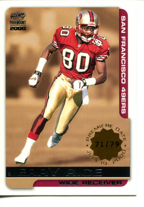 2000 Paramount Premiere Date #214 Jerry Rice