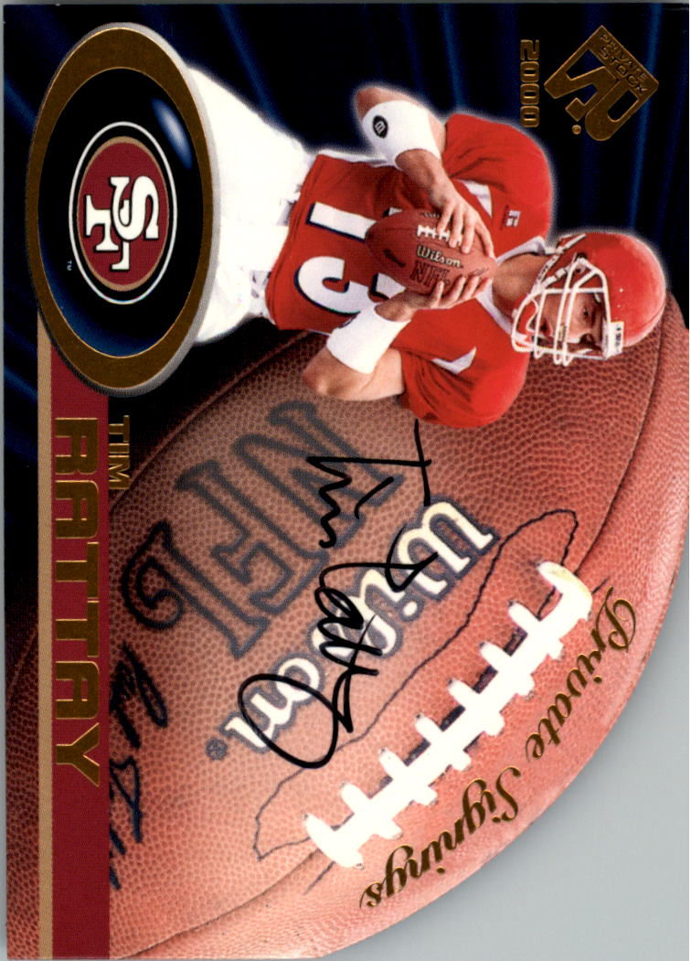 2000 Private Stock Private Signings #32 Tim Rattay