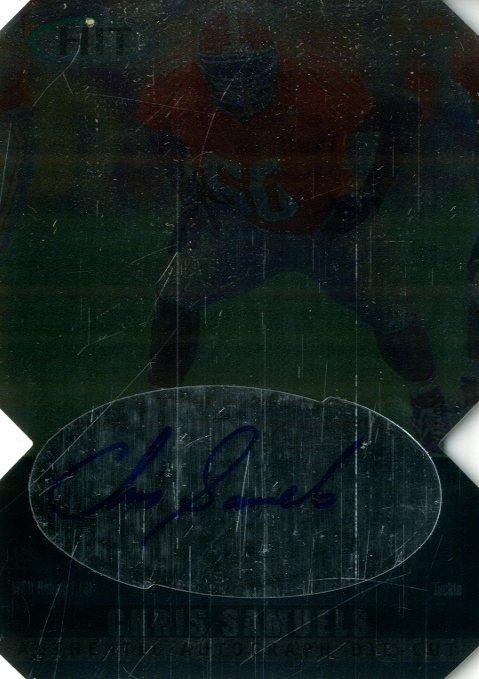 2000 SAGE HIT Autographs Diamond Die Cuts #3 Chris Samuels