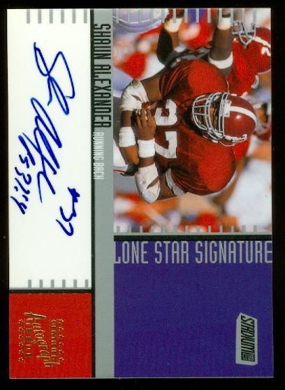2000 Stadium Club Lone Star Signatures #LS15 Shaun Alexander