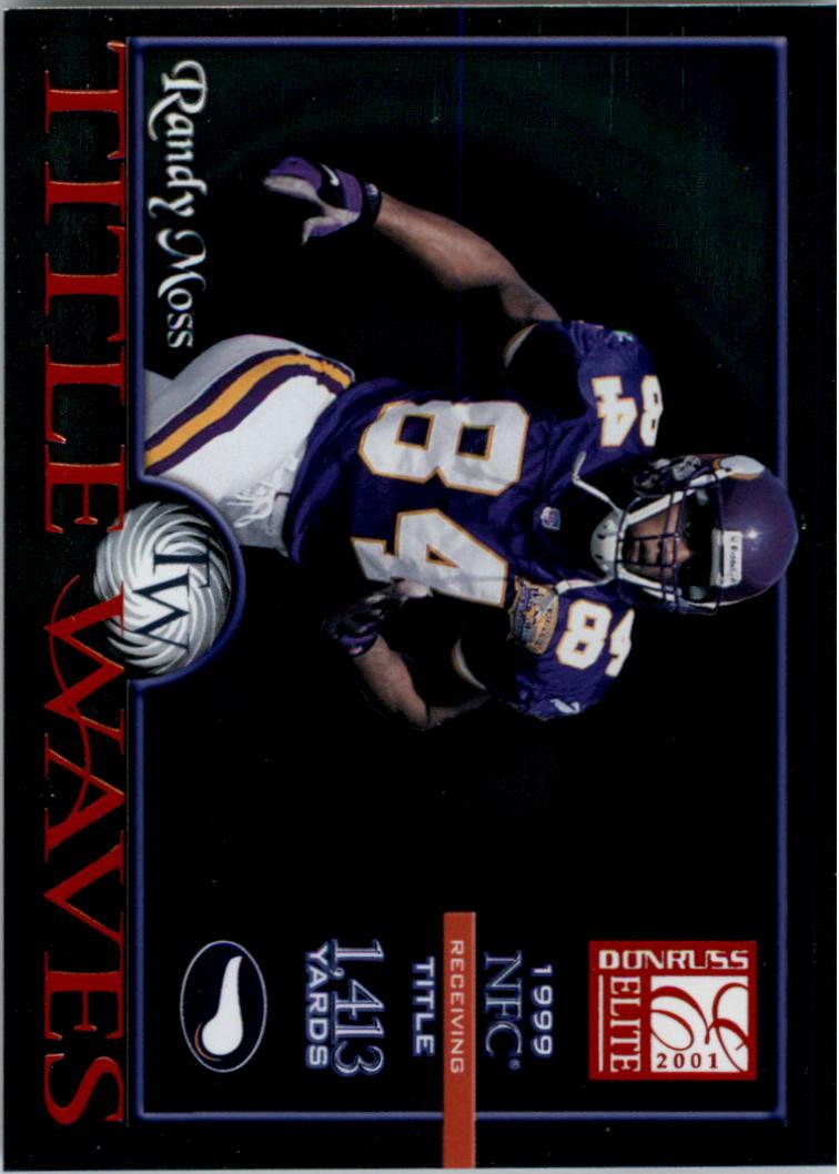 2001 Donruss Elite Title Waves #TW16 Randy Moss/1999