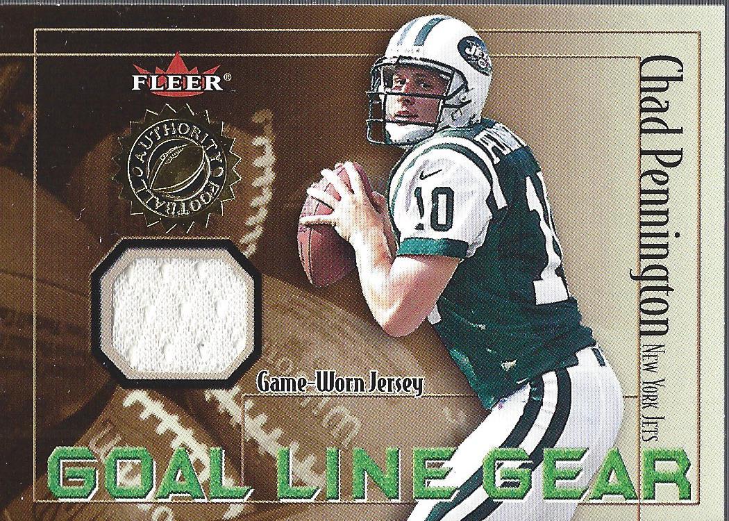 6da01adfb06 2001 Fleer Authority Goal Line Gear #39 Chad Pennington JSY/800