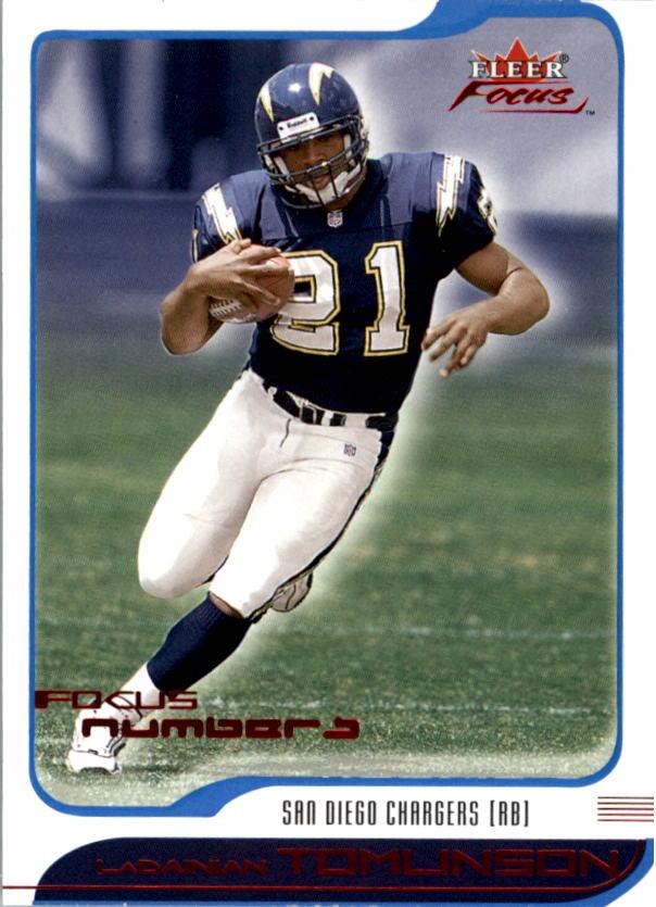 2001 Fleer Focus Numbers #185 LaDainian Tomlinson/369