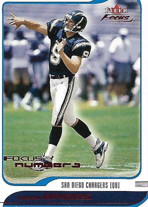 2001 Fleer Focus Numbers #195 Drew Brees/309