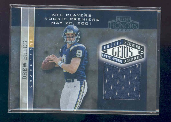 2001 Playoff Honors #203 Drew Brees JSY RC