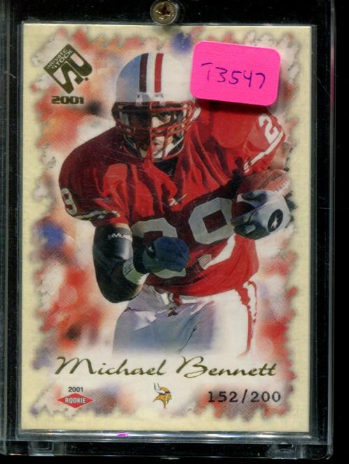2001 Private Stock #139 Michael Bennett RC