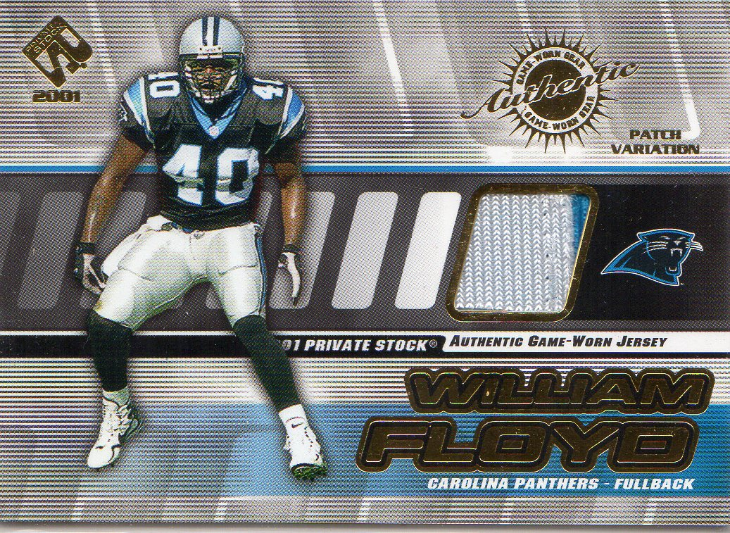2001 Private Stock Game Worn Gear Patch #20 William Floyd/250