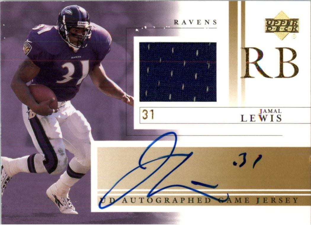 2001 Upper Deck Game Jersey Autographs #JLAJ Jamal Lewis
