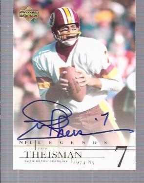 2001 Upper Deck Legends Autographs #JT Joe Theismann UER/(name misspelled Theisman)