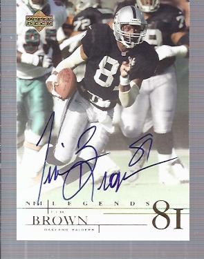 2001 Upper Deck Legends Autographs #TB2 Tim Brown