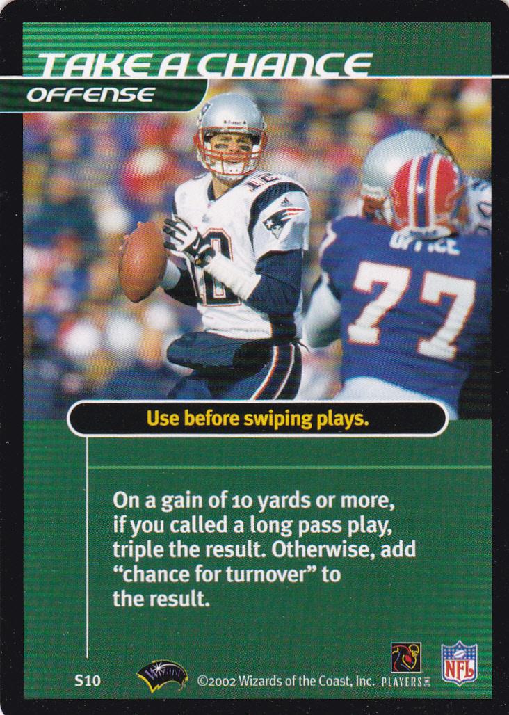 2002 NFL Showdown First and Goal Strategy #S10 Tom Brady/Take a Chance