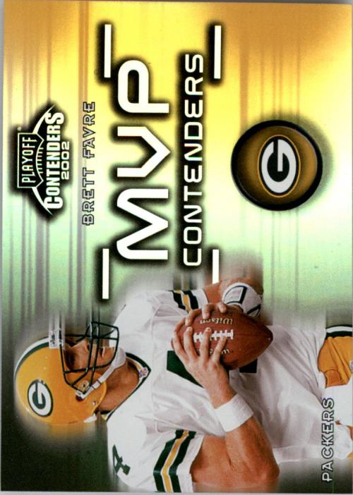 2002 Playoff Contenders MVP Contenders #MVP1 Brett Favre