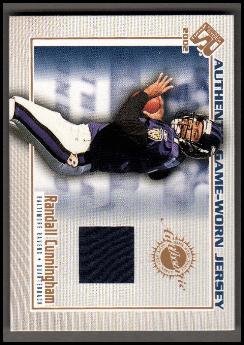 2002 Private Stock Game Worn Jerseys #12 Randall Cunningham/250*