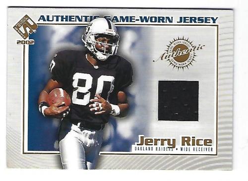 31cf71b2c 2002 Private Stock Game Worn Jerseys  92 Jerry Rice