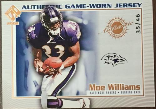 2002 Private Stock Game Worn Jerseys Logos #17 Moe Williams/46