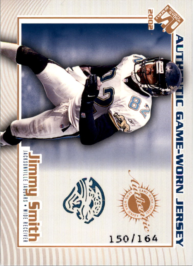 2002 Private Stock Game Worn Jerseys Logos #62 Jimmy Smith/164