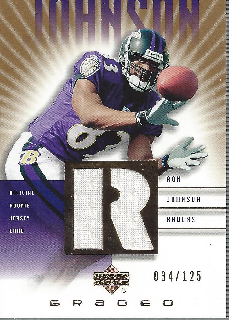 2002 UD Graded Rookie Jerseys Gold #RJ500 Ron Johnson