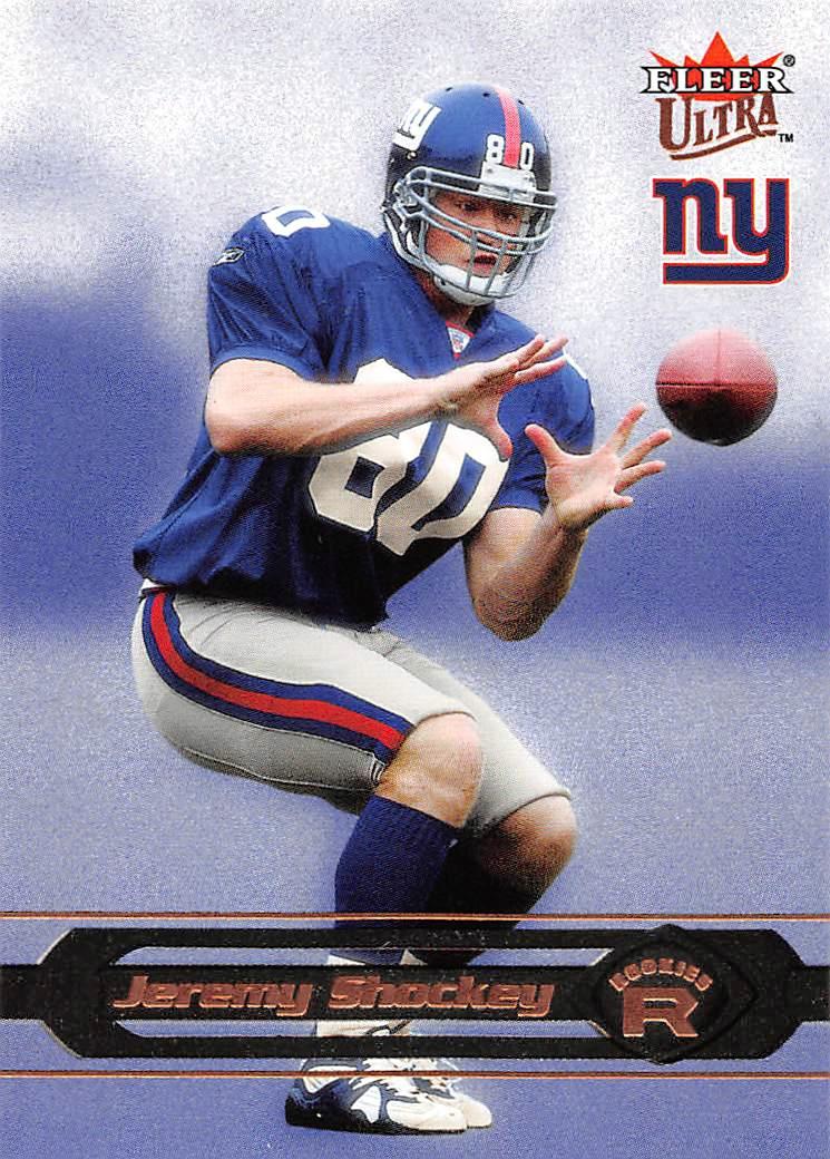 2da4e9782 2002 Ultra  236 Jeremy Shockey RC Rookie Giants Saints