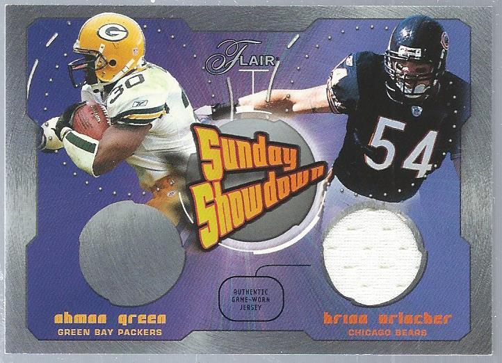 2003 Flair Sunday Showdown Jerseys #SSBU Ahman Green/Brian Urlacher JSY