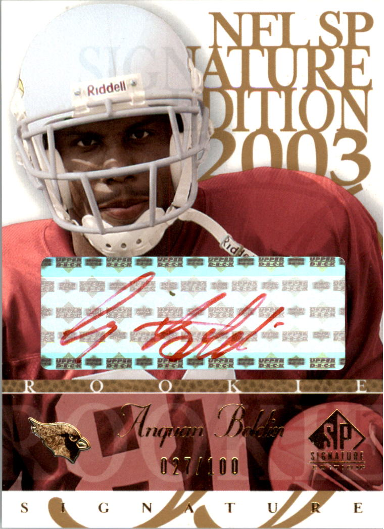 2003 SP Signature Autographs Red Ink #AB Anquan Boldin