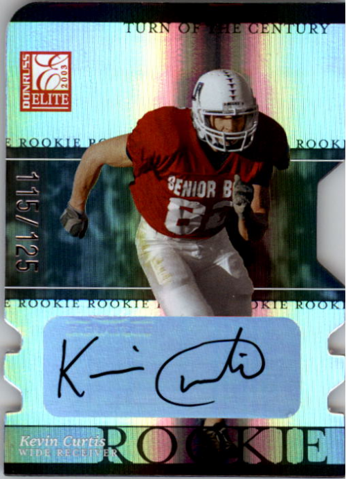 2003 Donruss Elite Turn of the Century Autographs #143 Kevin Curtis