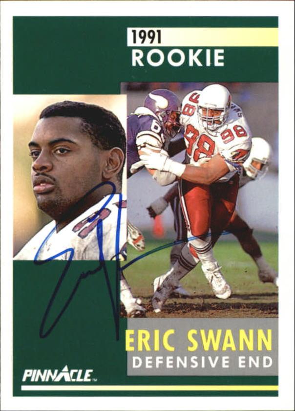Eric Swann Signed 1991 Pinnacle #253 RC AUTO
