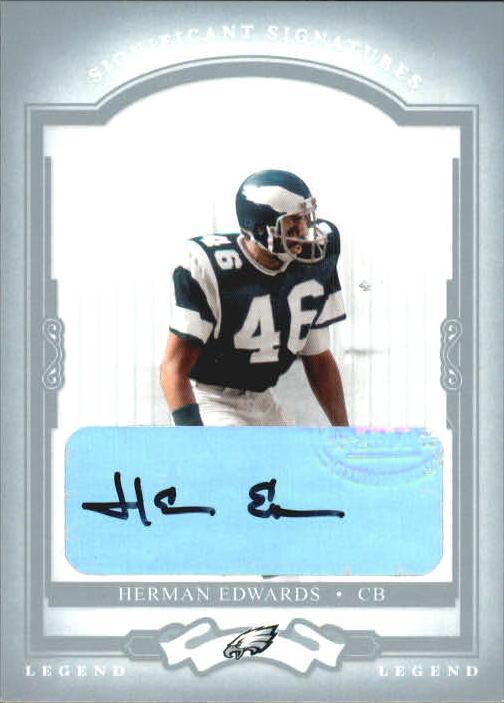 2004 Donruss Classics Significant Signatures Platinum #117 Herman Edwards