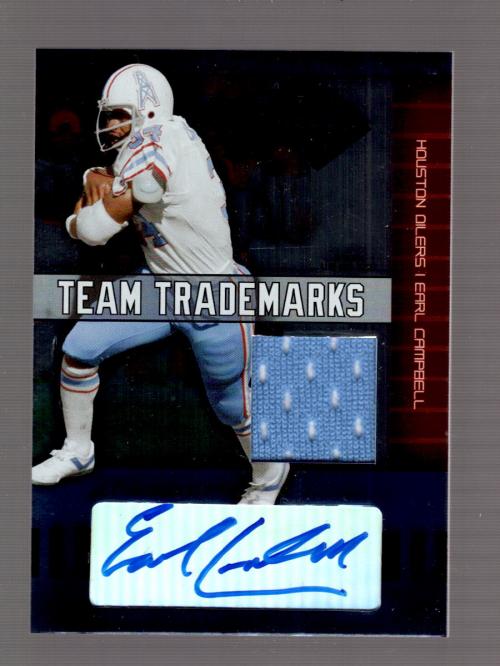 2004 Leaf Limited Team Trademarks Autographs #TT38 Earl Campbell