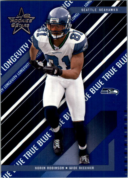 2004 Leaf Rookies and Stars Longevity True Blue Parallel #78 Koren Robinson